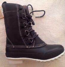 Tretorn Aspelina Womens Size 5 Waterproof Winter Snow Boots Mid-Calf Black EU36