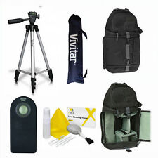"VIVITAR PHOTO 50"" TRIPOD + BACKPACK  REMOTE FOR SONY ALPHA A5000 A5100 A6000"