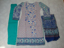Gul Ahmed  Embroidered Lawn Cotton Pakistani Indian suit reduced to £18