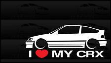 I Heart My CRX Sticker Love Slammed Low JDM Civic Honda Hatch EF