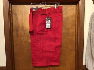 NWT Regal Wear men's cargo shorts belted red size 40