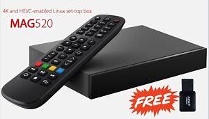 Original Infomir Mag 520 NEWEST MODEL 2021 plus WiFi antenna 300 Mbps