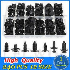 240pcs Car Trim Clip Panel Body Retainer Push Type Pin Rivet Moulding Assortment