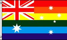 Rainbow Australia Flag Gay Pride Lesbian Lgbt 3x5 Polyester