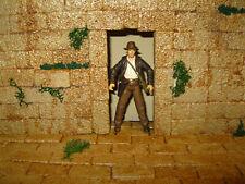 Indiana Jones Award Winning Custom Cast Stone Wall & Door Diorama Free Shipping
