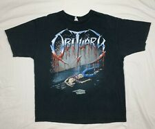 Obituary Tee Shirt 2003 Screen Printed Slowly We Rot Shirt Men's XL Excellent