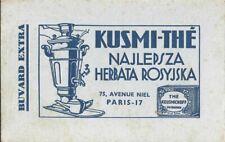 BUVARD 100633 KUSMI THE TEXTE RUSSE PARIS 17