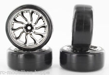 onehobby Drift 1-10 RUEDA COMPLETA Cromo Negro 0mm OFFSET 35687
