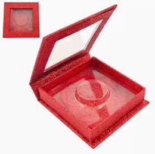 Eyelash Packaging Box 40pc Wholesale Bulk Red Reusable for 25mm Lashes