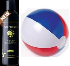 Tan Physics True Color Sunless Self Tanner Sun Less Tanning Lotion W/ BEACH BALL