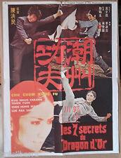 """AFFICHE CINEMA : """"Les 7 secrets du Dragon d'Or"""" 1974"""