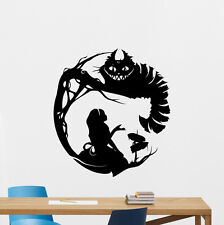 Alice In Wonderland Wall Decal Cheshire Cat Vinyl Sticker Poster Mural 122crt