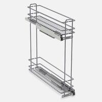 Portabottiglie Estraibile Standard con rientro ammortizzato 12x46xH52 cm