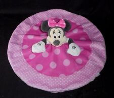 DISNEY MINNIE MOUSE PINK ROUND BABY SECURITY BLANKET STUFFED ANIMAL PLUSH TOY