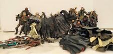 "Lord of the Rings lot of 30 6""-8"" figures, weapons etc 150 pieces"