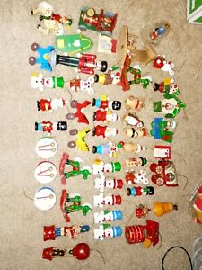 Huge Lot of Vintage Wooden Christmas Decorations Ornaments