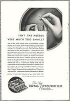 1930 ROYAL TYPEWRITER advertisement, Royal portable model typewriter