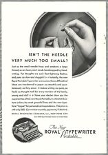 1930 ROYAL TYPEWRITER advertisement, Royal portable model typewriter