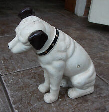 SUPERB LARGE HEAVY CAST IRON HMV HIS MASTERS VOICE DOG DOORSTOP & MONEY BANK