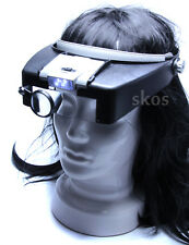 Headband Reading Magnifier Kopfbandlupe Leselupe Kopflupe 1.5X 2X 2.5X 3.5X Lupe