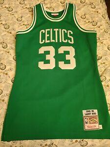 Mitchell Ness  M&N Boston Celtics Larry Bird authentic jersey 44 Large L legend