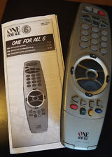 One For All Universal 6 in 1 Remote Control URC - 7562 TV VCR DVD SAT CD AUD