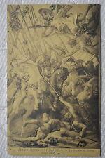 """CPA """" Les Fresques du Panthéon- La Bataille de Tolbiac"""