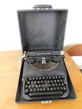 Working 1930s Remington Rand Deluxe Model 5 Typewriter w Case Black NICE!