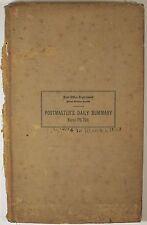 RARE Antique Postmasters Daily Summary Accounting Book 1924 - 28 SIGNED LETTERS!