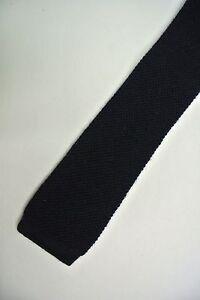 Solid Blue Wool Skinny Slim Trunk Tie