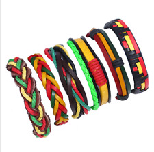 Multilayer Leather Cuff Bracelet Jewelry Fashion Punk Unisex Surfer Tribal Wrap