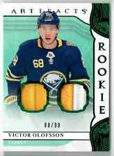 2019-20 ARTIFACTS EMERALD VICTOR OLOFSSON ROOKIE DUAL PATCH 2 COLORS 88/99