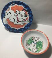 Disney 101 Dalmatians by Zac Designs Kids Cereal Bowl And Plate Set of 2 Vintage