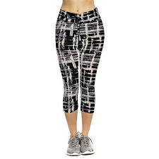 New Women High Waist Leggings Fitness Stretch Yoga Sport Cropped Leggings Pants