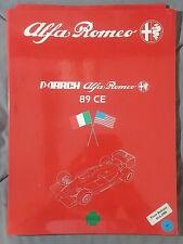 1989 MARCH ALFA ROMEO 89 CE MEDIA PRESS KIT INDY Racing PHOTOS SLIDES RARE MINT