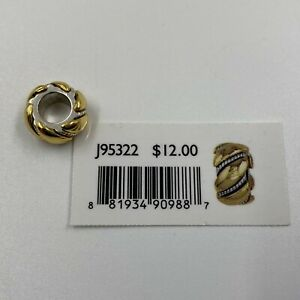 Brighton Twisted Bliss Spacer J95322 Gold/Silver Plated Finish NWT Free Shipping