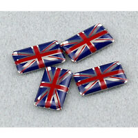 4Pcs 3D UK Flag Emblem Sticker Union Jack Decal(18*11mm)