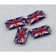 4Pcs 3D UK Flag Emblem Sticker Union Jack Decal(18*11mm)