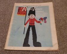 RADIO TIMES 1977 BLUE PETER NICOLA GRIFFIN JOHN NOAKES HAND SIGNED AUTOGRAPH