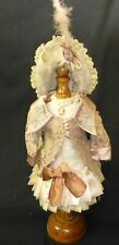 DRESS, JACKET  & BONNET FOR ANTIQUE DOLL, DOLL CLOTHES, DOLL OUTFIT