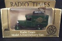 LLEDO BBC FIFTY YEARS OF TELEVISION- RADIO TIMES MODEL A FORD VAN-FREE POSTAGE!