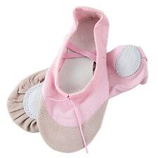 Girls Pink Elastic Darwstring Top Line Ballet Dancing Flats Shoes US 13 Q3T3