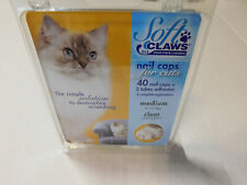 Soft Claws Nail Caps for Cats Medium Clear
