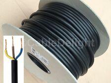 13 Amp Negro Red Eléctrica Cable De Alambre 3 Core 1.5mm Flexible Vendido por metros
