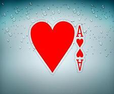 Autocollant sticker voiture jeton poker table casino jeux as de cœur carte B