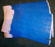 35 Plain Blue Paper Wristbands For Events/Parties/Security/Festivals