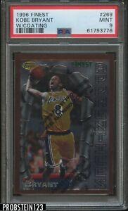 1996-97 Topps Finest #269 Kobe Bryant Lakers RC Rookie HOF w/ Coating PSA 9 MINT