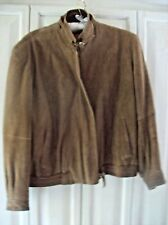 Vintage 80's 100% Goat Suede Brown Jacket by Eagles Eye Size Small