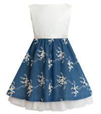 Sly chica vestido fiesta boda Jugendweihe tecnológico vestido de verano azul