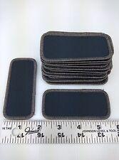 """20 Lot Blank Black Dark Gray Shirt Name Tag Uniform Patches 3 5/8"""" x 1 5/8"""""""